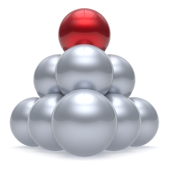 sphere ball pyramid hierarchy